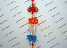 FENG SHUI - RABBIT, SHEEP & BOAR - CAT'S EYE THREE ZODIAC ALLIES TASSEL