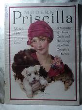 The MODERN PRISCILLA Magazine March 1927 Pretty Girl w Puppy by Knowles Hare