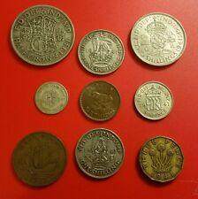1941 George VI British Pre-Decimal Coins Set Inc 42 gr. Silver in Prot Wallet