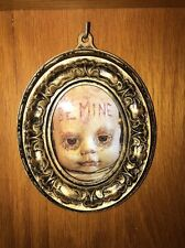 Spooky Doll Picture Creepy Mixed Media Horror Gothic Scary Dead Bloody Valentine