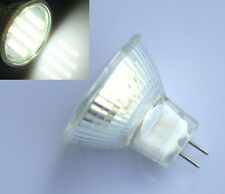 2x MR11 GU4 24 LED 3528 SMD Pure White Spotlight Spot Light Lamp Bulb 12V