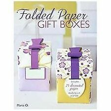 Folded Paper Gift Boxes, O, Maria, New Book