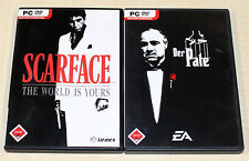 2 PC SPIELE SET - DER PATE & SCARFACE THE WORLD IS YOURS - DVD HÜLLE & HANDBUCH