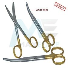 "Pro Cutting MEDICAL MAYO SCISSORS 5.5"" Surgical Instruments CURVED BLADE GOLD ce"