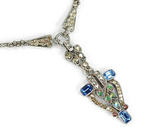 NEW SWEET ROMANCE STUNNING ART DECO CRYSTAL TORCHIERE NECKLACE
