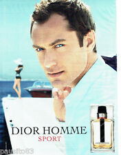 PUBLICITE ADVERTISING 096  2012  Dior eau toilette Homme Sport & Jude Law