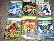 8 XBOX 360 Racing Sports Video Game Lot Bundle! Need for Speed, LEGO, MORE!