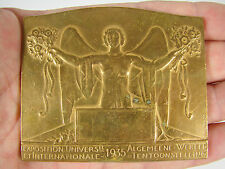 Médaille EXPOSITION UNIVERSELLE INTERNATIONALE BRUXELLES 1935 Bonnetain Medal 铜牌