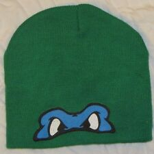 MENS BEANIE HAT CAP TEENAGED MUTANT NINJA TURTLES LEONARDO WINTER TOBOGGAN MOVIE
