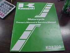 Kawasaki KDX 200 A2 Owner's Manual & Service Manual
