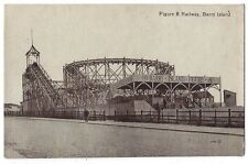 BARRY ISLAND Rollercoaster, Figure 8 Railway, Postcard by Valentine, unused