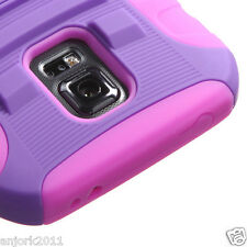 Galaxy S5 Active G870A Hybrid Case Skin Cover w/Stand AA Armor Purple/Pink