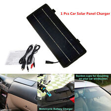 Universal 12V Solar Panel Battery Maintainer Charger For Vehicle Boat Motorcycle