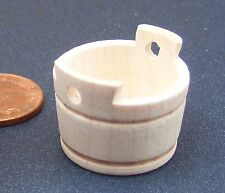 1:12th Empty Natural Finish Wooden Tub Dolls House Shop Kitchen Accessory BM4
