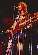 "12""*8"" concert photo of Chris Squire, Yes, playing at Wembley in 1977"