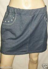 Mini-jupe taille-basse en jean's, 5 poches imprimées, taille 42 Neuve++++