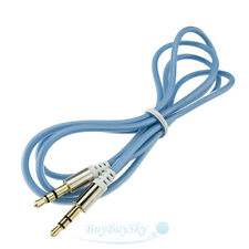 3ft 3.5mm Male to Male Stereo Audio AUX Cable Cord Audio Cable Blue USA