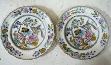 two hand embellished plates by Ashworth Bros. Hanley design English fine china