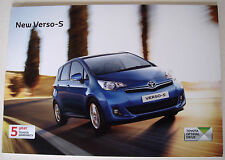 Toyota . Verso . New Verso S . January 2011 Sales Brochure