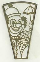 Brass Night Light Filigree CLOWN With Pattern Stained Glass Supplies