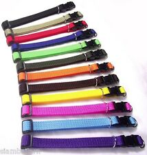 Lot Of 12 Different Colors Nylon ID Whelping Collar Little Puppy Pet Dog Collars