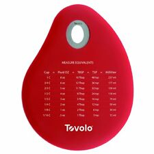 Tovolo Spatulart Measurement Conversion Bowl Scraper RED