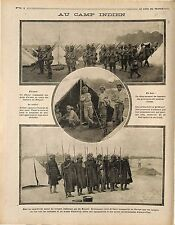 Soldats Soldiers Cipaye India Soldiers British Army Flanders France 1914 WWI