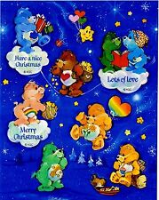 ❤❤TCFC CARE BEARS CHRISTMAS❤❤STICKER SHEET❤❤AMERICAN GREETINGS