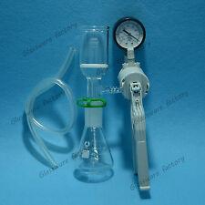 100mL Filtration Kit,Erlenmeyer Flask & Filter Funnel & pump,Lab Funnel Kit