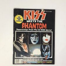Kiss Meets The Phantom Official Magazine With Poster! Aucoin 1978 Centerfold