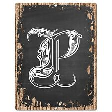 PP0487 Alphabet Initial Name Letter P Chic Sign Bar Shop Store Home Room Decor