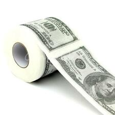$100 Dollar Money Printed Toilet Roll Funny Gift Paper Bathroom Tissue Novelty