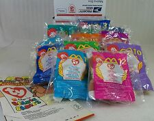 1999 Mc Donalds Ty Teenie Beanie Babies new sealed set of 12 with bag free ship