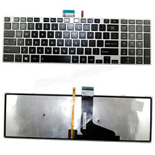 New US Backlit Keyboard For Toshiba Satellite E55-A5114 E55T-A5320 With Frame