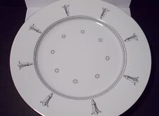 "Swid Powell - White Corinth Pattern 12"" Plate by Michael Graves"