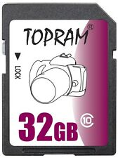 TOPRAM 32GB SD class10 C10 32G SDHC 2.0 secure digital memory card bulk