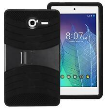 Alcatel One Touch POP 7 LTE/9015W Hybird Armor Rugged Hard Box Case Cover BLACK