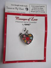 b Forever in my heart Messages of Love PRAYER BOX CHARM LOCKET Ganz