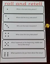 Roll and Retell-  Book/story discussion reading GAME - with dice - KS1 KS2
