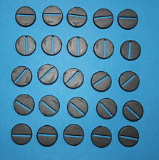 100 (One Hundred) 20mm Round Slotta Bases for Wargaming and Roleplaying New