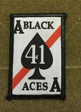 VFA-41 Black Aces FA18 Hornet  Morale Patch Top Gun Jolly Rogers Maverick