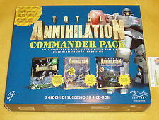 TOTAL ANNIHILATION COMMANDER PACK 3 GIOCHI NUOVI PER PC WINDOWS RETROGAME VINTAG