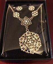 Avon  Filigree Necklace Earring Gift Set
