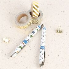 Milly Green Tartan Wildlife Stag Grouse Set of 2 Roller Ball Pens