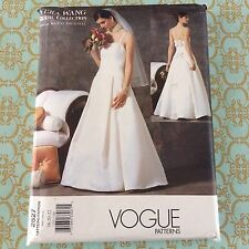 Vogue Vera Wang Wedding Gown Dress Pattern 2527 Uncut Sz 18-22 Bridal Collection
