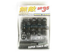 Muteki SR35 Extended Closed Ended Wheel Tuner Lug Nuts Chrome Black 12x1.25mm