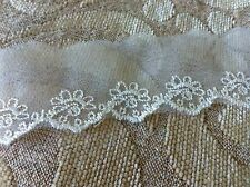3 yds  ivory/cream vintage  flower  lace  No6  size 2 ""
