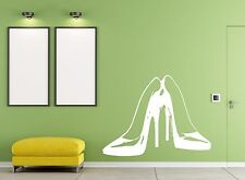 Vinyl Decal Wall Sticker Pair female high heel stylish shoes (m564)