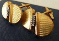 Retrò Vintage Oro Dorati & DIAMOND Spagna Gemelli & Box Borsa Regalo