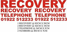 REFLECTIVE RECOVERY TRANSPORTER TRUCK STICKERS DECAL